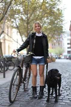 Cute way of wearing a Barbour