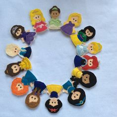 Pretty Princess Full Finger Puppet Set by ThatsSewPersonal on Etsy