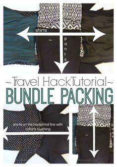 Travel Hack Tutorial How to Bundle Pack