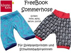 Freebook / Tutorial / Nähanleitung / Schnittmuster kostenlos / Kinderhose / Sommerhose für Kinder / nähen / Sommer-Hose / Hose / sewing / free pattern and instructions / pants / trousers / for kids / children