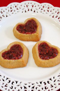 Almond Double Thumbprint Heart Cookies by WickedGoodKitchen.com ~ Gluten & grain-free, as well as paleo, almond shortbread jam cookies for Valentine's Day!