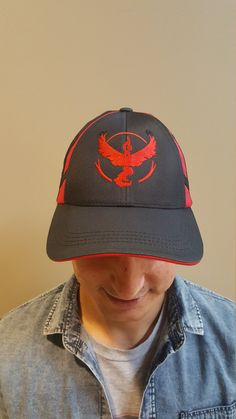 Pokemon GO. Embroidery Hat. Team Cap. Instinct. Mystic or Valor. Curved 1add3aeda366