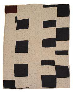 Improvisational pieced quilt, 1945-1950, Susana Allen Hunter