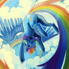 Another image for a friend, this time of RBD :> MLP is Hasbro's Sky high Rainbow Dash, Rainbow Light, My Little Pony Comic, My Little Pony Pictures, Wallpaper Space, My Little Pony Friendship, Sky High, Lovers Art, Pokemon