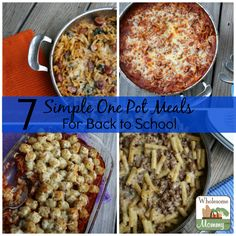 Kids are going back to school, so you need quick and easy meals. Try these 7 simple one pot meals from Walmart Mom Denise at WholesomeMommy.com