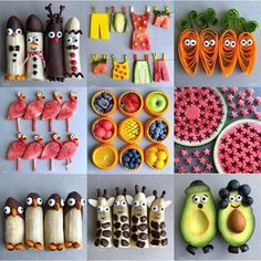 The Banana Giraffe Family Selfie📷 . . . . #foodstyling #foodart #foodforkids #foodphotography #healthychoices #beautifulcuisines… Party Dips, Snacks Für Party, Food Art For Kids, Cooking With Kids, Dessert Parfait, Aperol, Preschool Snacks, Baby Led Weaning, Weaning Toddler
