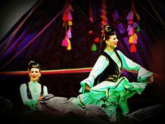 Nauryz celebration dance in Almaty, Kazakhstan
