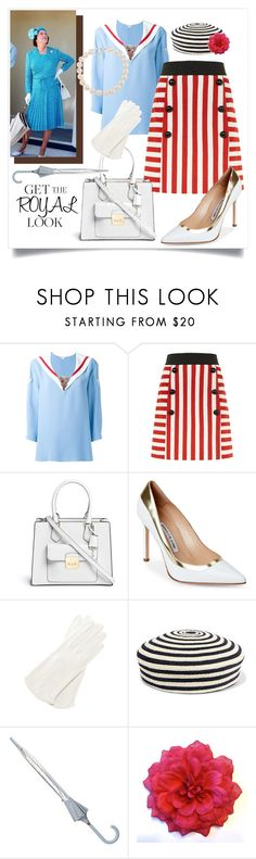 """Get The Royal Summer Look"" by capricat ❤ liked on Polyvore featuring Marc Jacobs, Dolce&Gabbana, Michael Kors, Manolo Blahnik, Gucci, Hunter and Carolee"