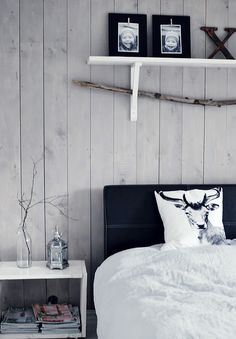 I don't know how I feel about things over my head in bed. But the shelf idea is simple.