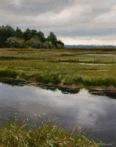 """Late Spring (Study),"" by Renato Muccillo 4 x 5 - oil $1090 Framed"