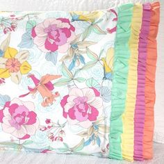 Michael Miller Fabrics  Fabric Used: Body: Elsie; Band: Cotton Couture Download the free ruffle pattern here: http://www.allpeoplequilt.com/millionpillowcases/freepatterns/Pillowcase-36.pdf
