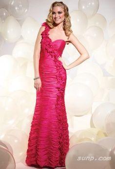 red mermaid evening dress