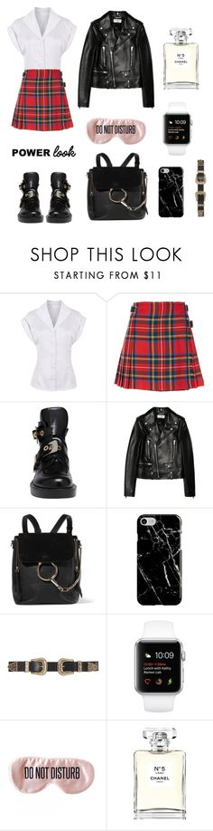 """""""powers girl"""" by mycky ❤ liked on Polyvore featuring Christopher Kane, Balenciaga, Yves Saint Laurent, Chloé, Recover, B-Low the Belt, BaubleBar and Chanel"""