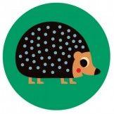 Happy Hedgehog Melamine Plate