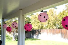 "Photo 2 of 17: Pink & Red Ladybugs / Birthday ""Little Lady Pink Ladybug Party"" 