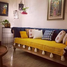Give your home all new look with our collection of throwpillows, couch covers and throws.  Love the living room setup done by…