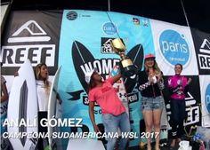 ANALÍ GÓMEZ TRICAMPEONA SUDAMERICANA WSL 2017