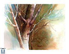 Birdseye View, original watercolor by Jesus F. Moreno