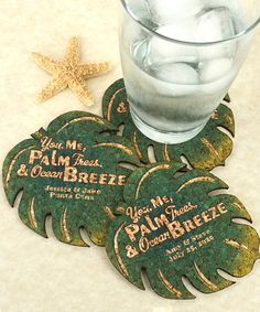 Look at this #zulilyfind! Personalized Palm Leaf Cork Coaster - Set of 12 by Island Life #zulilyfinds