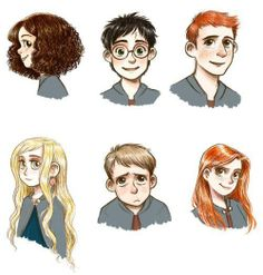 harry potter characters art