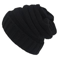 Spring fever Unisex Winter Slouch Thermal Fashion Cozy Stretch Baggy Beanie Hats New Black *** You can get more details by clicking on the image. Amazon Affiliate Program's Ads.