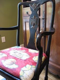 Painted black furniture from southernhospitalityblog.com
