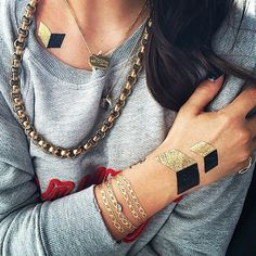 Easy to diy! 16 Ways To Rock Flash Tattoos (the Temporary Ink Everyone's Wearing) | StyleCaster