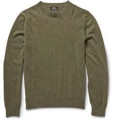 A.P.C. Wool and Cashmere-Blend Sweater | MR PORTER