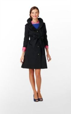 Kelli Coat- love the ruffles, the buttons, the pink lining.. Need it!!!!