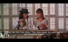 About raisins I Benny and Joon |        One of Johnny Depp's greatest movies <3 I love it so much.