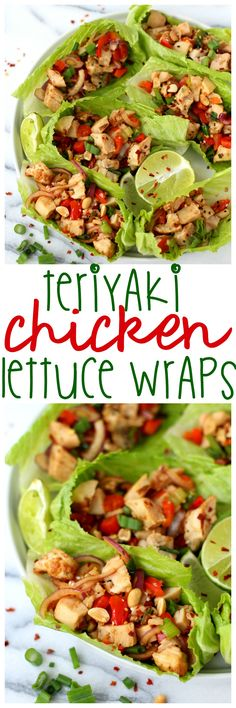 Healthy eating is SO easy with these low calorie, low carb, delicious Teriyaki Chicken Lettuce Wraps! Bursting with your favorite Asian flavors!