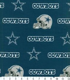 9d3454987 Dallas Cowboys Blue Cotton Fabric by the Yard