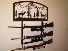 Gun Rack Custom Metal. $215.00, via Etsy.