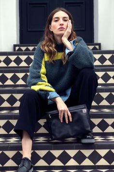 Maria Valverde - Vogue Spain - styled by Patricia Ruiz del Portal - Dries Van Noten fall 2014 knitwear