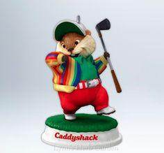 Hallmark Keepsake Caddy Shack Gopher Golfer Christmas Ornament 2012 NIB #Hallmark