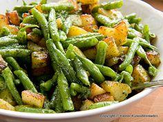Bratkartoffel-Bohnen-Salat mit Basilikumpesto | Kleiner Kuriositätenladen