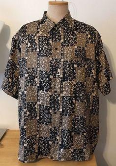 Tori Richard Honolulu Shirt Short Sleeve Button Down Brown Black Size 3XL XXL    eBay