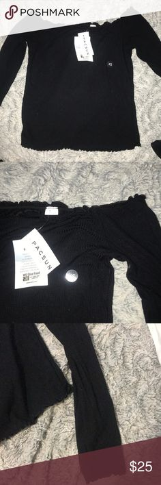 cea88f56f12 Shop Women s PacSun Black size XS Tees - Long Sleeve at a discounted price  at Poshmark.