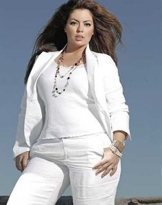 Plus Size Fashion & Beauty/ style inspiration  #All white outfit
