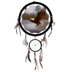 "13"" Dream Catcher - Eagle Small Dream Catcher, Dream Catchers, Indian Horses, Dream Catcher Native American, Hoop Dreams, Native American Crafts, American Indians, Medicine Wheel, Wolf Howling"
