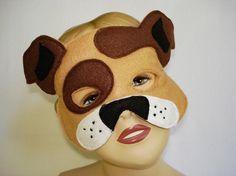 Children's BROWN Dog Felt Mask by magicalattic on Etsy, $12.50