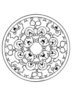 spring mandala coloring page crafts and worksheets for preschool stitching butterflies. Black Bedroom Furniture Sets. Home Design Ideas