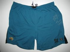 624a0e1bccc Kyle Bosworth Training Worn   Signed Jacksonville Jaguars Rookie  51 Reebok  Shorts