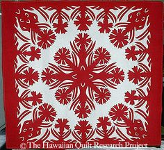 Hawaiian Quilt Project.  It's like they're hand appliqueing giant snowflake designs or somethin.  Incredible!