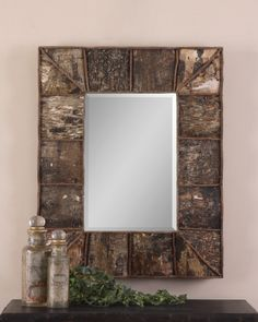 Birch Bark and Twig Rustic Mirror - [UM-09030 B] : MyBarnwoodFrames.com   Barnwood Frames, Rustic Picture Frames, Rustic Mirrors & Home Decor