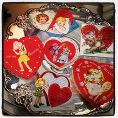 Cupid has landed! Vintage and repro Valentines plus other fun gifts for your sweetie now at Miss Charlotte's Vintage!