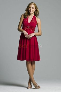 Mid Back Chic & Modern Burgundy A-Line Mother Of The Bride Dress