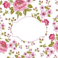 Pink rose frame card