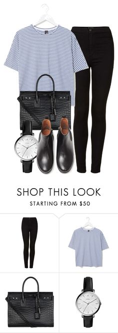 """- Earthquake -"" by tish-nyu ❤ liked on Polyvore featuring Topshop, Boutique, Yves Saint Laurent, FOSSIL and MANGO"