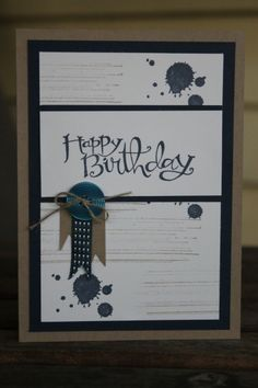 stampin up masculine birthday cards - Google Search